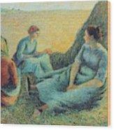 Haymakers Resting, 1891 Wood Print