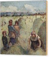 Haymaking, 1895 Wood Print