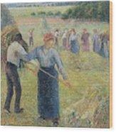 Haymaking At Eragny, 1891 Wood Print