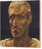 Head Of A Shipwrecked Man Study For The Raft Of Medusa 1819 Wood Print