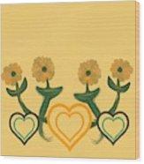 Hearts Bronze Wood Print