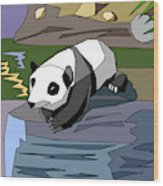 Heathers Panda V2 Wood Print