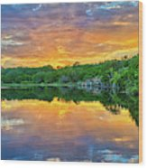 Heavenly Reflections In The Hill Country Wood Print