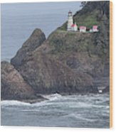 Heceta Head Light Wood Print