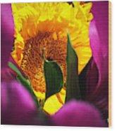 Hello Yellow Wood Print