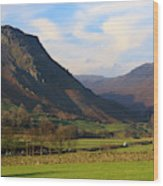 Helm Crag And Wythburn Fells Above Grasmere In The Lake District Wood Print