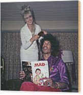 Hendrix Hair Wood Print