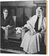 Henry Kissinger With King Faisal Wood Print