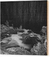 Hepokongas Waterfall Bw Wood Print