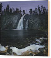 Hepokongas Waterfall Wood Print