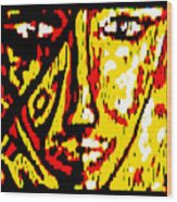 Her Multicultural Face Wood Print