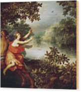 Hercules  Dejaneira  And The Centaur Nessus  Wood Print