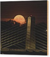 Here Comes Mister Moon 3 Wood Print
