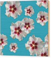 Hibiscus Flower Pattern Wood Print