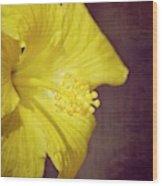 Hibiscus Yellow Wood Print