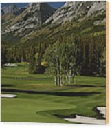 High Angle View Of A Golf Course, Mt Wood Print