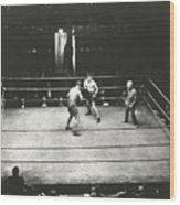 High Angle View Of Boxing Match Wood Print