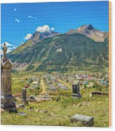 Hillside Cemetery Of Silverton Colorado Wood Print