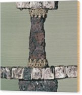 Hilt Of A Viking Sword Found At Hedeby, Denmark, 9th Century Wood Print
