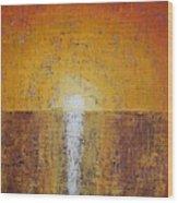 Hilton Head Sunrise Original Painting Wood Print