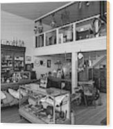 Hindsman General Store - Allensworth State Park - Black And White Wood Print