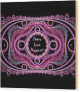 Hippie Lace - Peace, Love, Happiness Wood Print