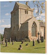 historic Crichton Church and graveyard in Scotland Wood Print