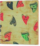 Historic Hearts Wood Print
