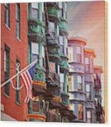 Historic North End Boston Massachusetts Wood Print