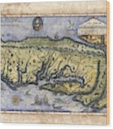 Historical Map Hand Painted Drake Virginia Wood Print