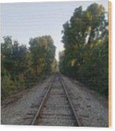Hit The Rails Wood Print