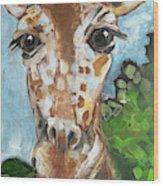 Hobbes Giraffe Wood Print