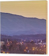 Holston Mountain Over Tennessee High Wood Print