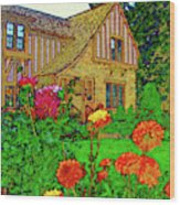 Home And Garden Wood Print