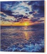 Honolulu Sunset Wood Print