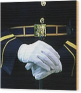 Honor Guard Holding Rifle, Arlington Wood Print