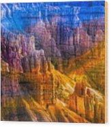 Hoodoo's Rainbow Color Mix Bryce Canyon  Wood Print