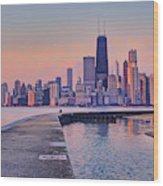 Hook Pier - North Avenue Beach - Chicago Wood Print