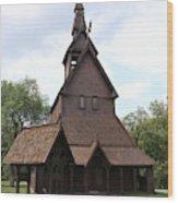 Hopperstad Stave Church Replica Wood Print