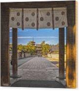 Horyu-ji Temple In Nara, Unesco World Wood Print