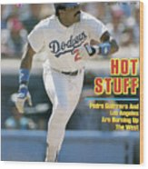 Hot Stuff Pedro Guerrero And Los Angeles Are Burning Up The Sports Illustrated Cover Wood Print