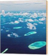 Hotel On The Island Maldives Indian Wood Print