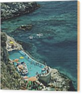 Hotel Taormina Pool Wood Print