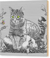 House Cat Wood Print