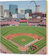 Houston Astros V St. Louis Cardinals Wood Print