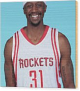 Houston Rockets Media Day Head Shots Wood Print