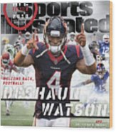 Houston Texans Deshaun Watson, 2018 Nfl Football Preview Sports Illustrated Cover Wood Print