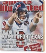 Houston Texans Qb David Carr, 2002 Nfl Hall Of Fame Game Sports Illustrated Cover Wood Print