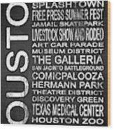 Houston Tx 6 Wood Print