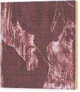 How The Camel Got His Hump Oil Otd Painting 28 Wood Print